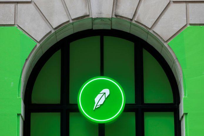 Het logo van Robinhood.