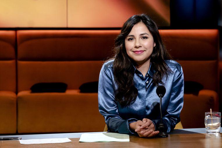 Talitha Muusse als presentator van de KRO-NCRV-talkshow Op1. Beeld ANP