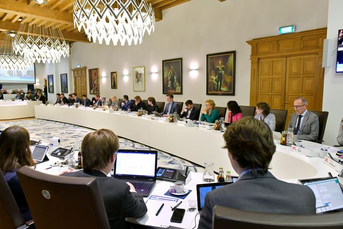 Beeld ter illustratie: De Delftse gemeenteraad bij een raadsvergadering.