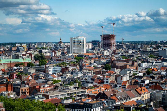 Een luchtbeeld van Antwerpen.