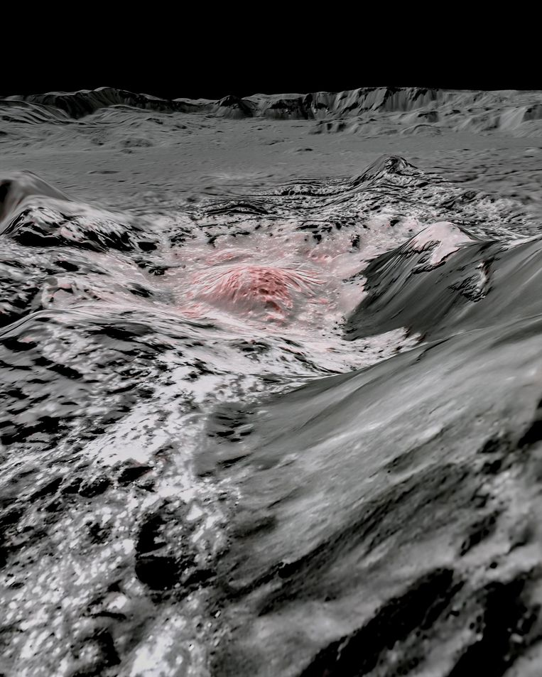 Via deze afbeeldingen leiden de onderzoekers af dat er water ontsnapt naar de bovengrond. Beeld via REUTERS