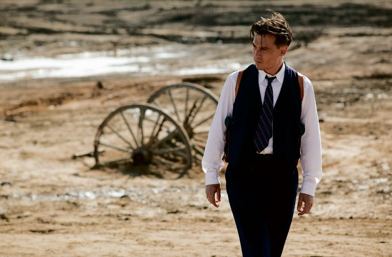 Johnny Depp als John Dillinger in 'Public Enemies', een film van Michael Mann.