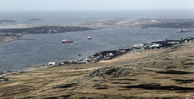 Stanley, een plaats op de Falklandeilanden. Beeld epa