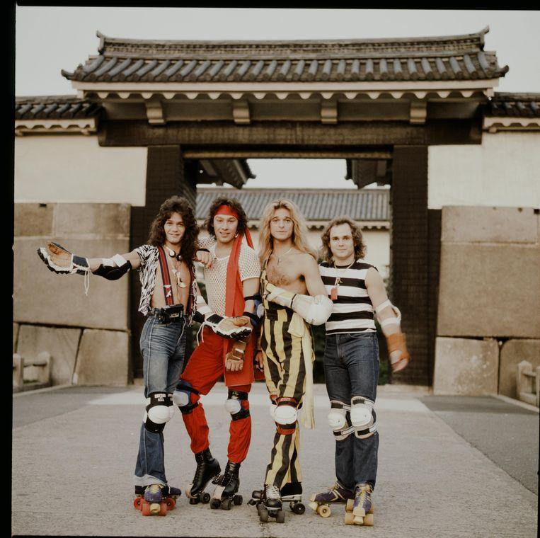 Van Halen in 1979 in Osaka. Beeld Getty Images