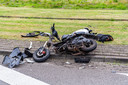 De scooterrijder werd met spoed naar het ziekenhuis gebracht