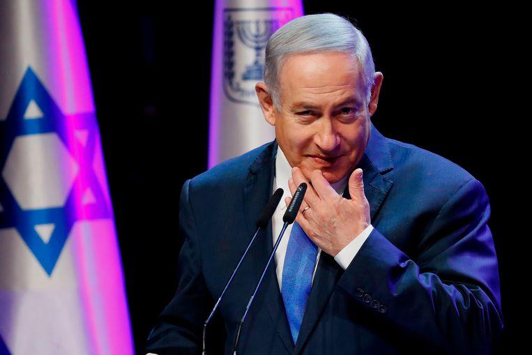 De Israëlische premier Benjamin Netanyahu.