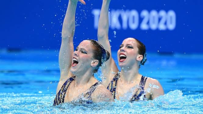 Goirlese synchroonzwemsters De Brouwer voorlopig op tiende plaats