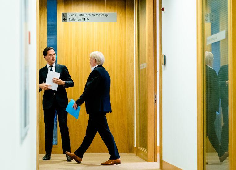 Mark Rutte en Jaap van Dissel. Beeld Hollandse Hoogte /  ANP