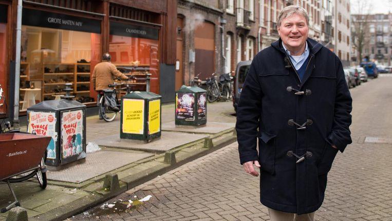 Jan Eric Remmelts in de Ter Haarstraat: 'Het is nog steeds een unieke buurt, van en voor Amsterdammers' Beeld Marijke Stroucken