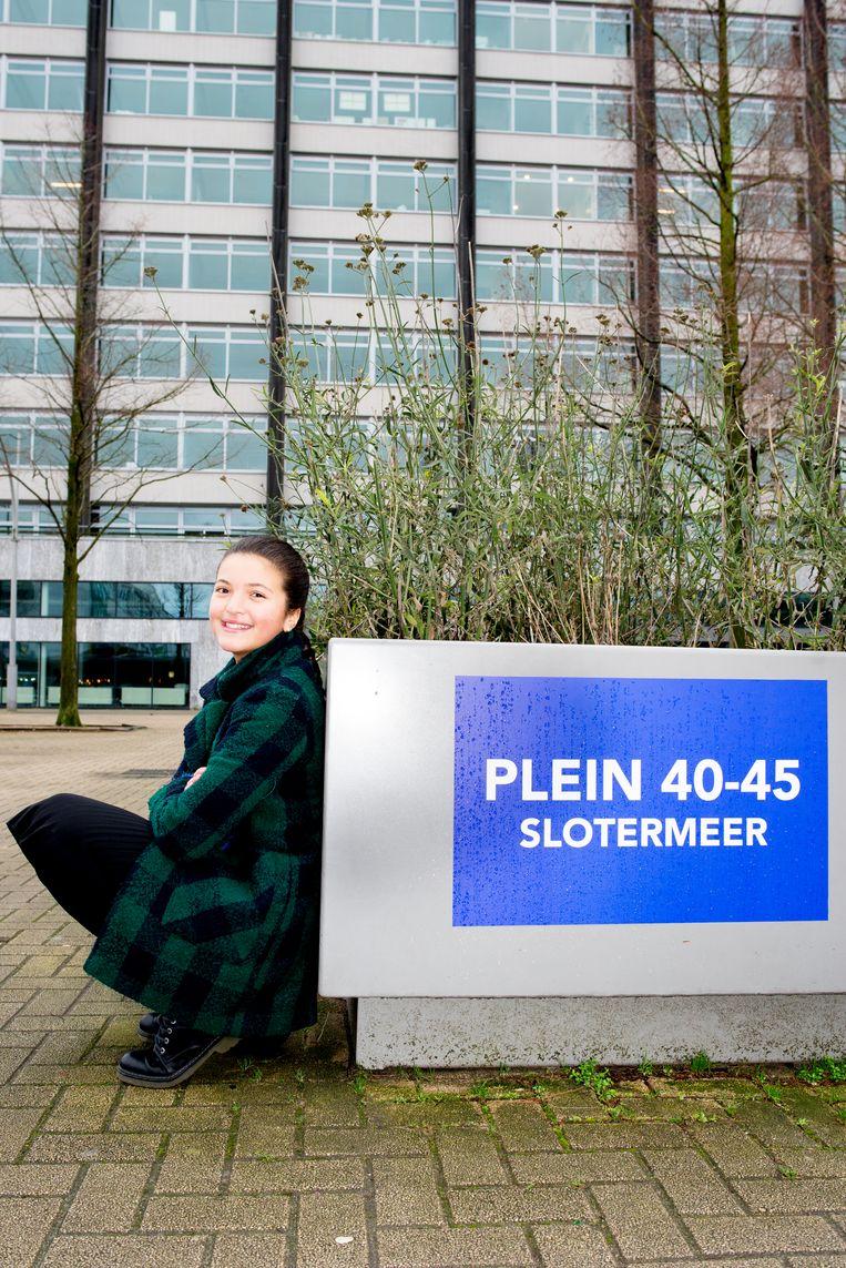 Imane Valk (11): 'sinds mijn achtste wil ik de politiek in.' Beeld Marjolein van Damme
