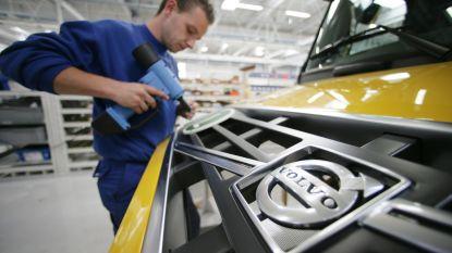 500 werknemers leggen werk neer bij Volvo Trucks