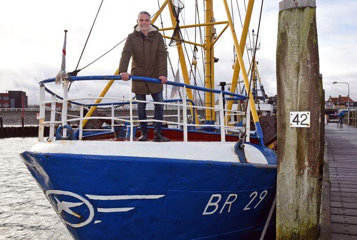 Ronnie Verschelling van de BR 29 is de laatste beroepsvisser die Breskens nog rijk is.