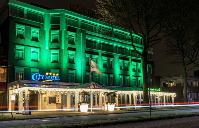 Het Osse City Hotel aan de Raadhuislaan toen het nog in functie was als een hotel.