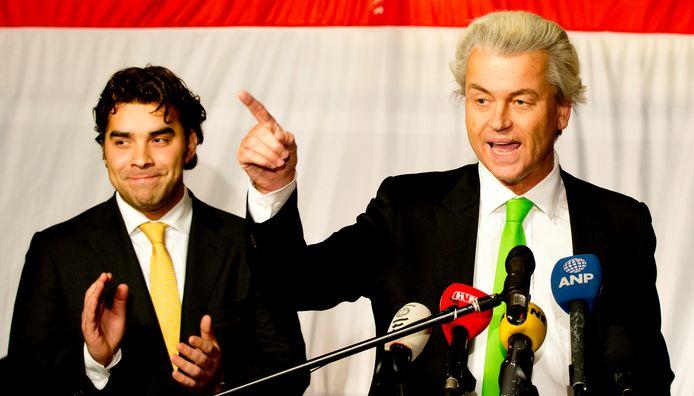 Wilders tijdens de bewuste verkiezingsavond.