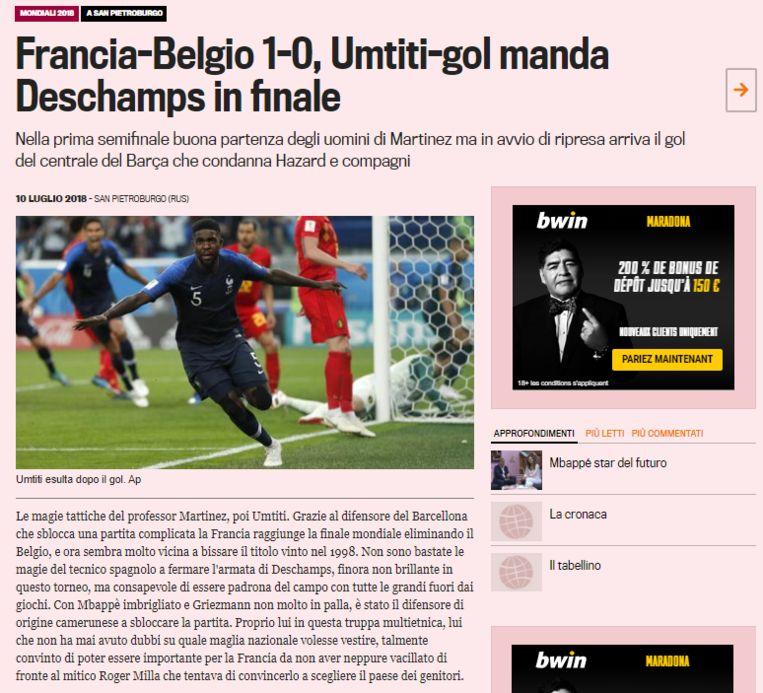 null Beeld La Gazzetta dello Sport