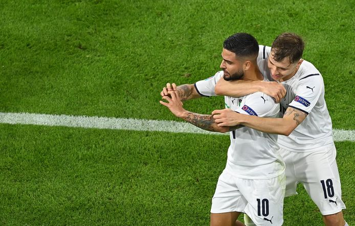 De Italiaanse doelpuntenmakers: Insigne en Barella.