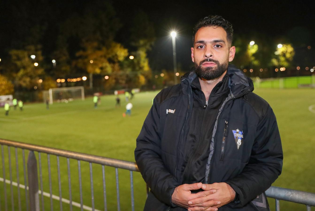 Kadir Kalender in het seizoen 2019-2020 als hoofdtrainer van Wodan.