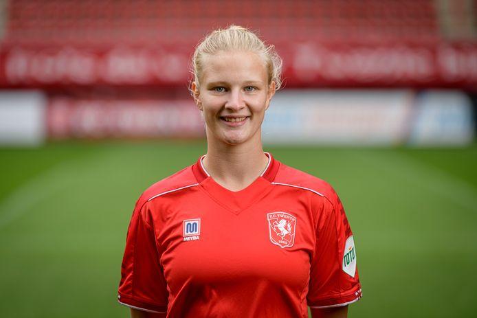 Anna-Lena Stolze zette FC Twente op voorsprong.