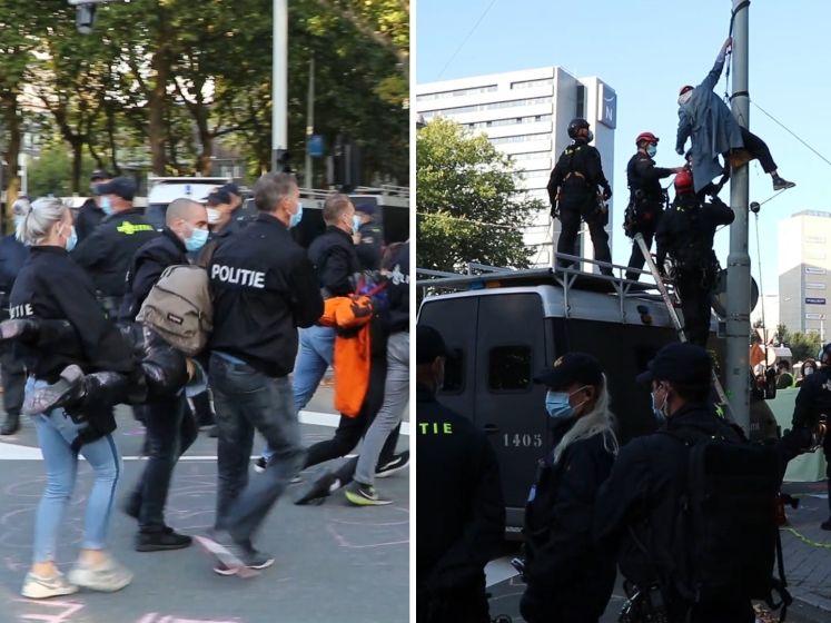 Politie verwijdert betogers Extinction Rebellion