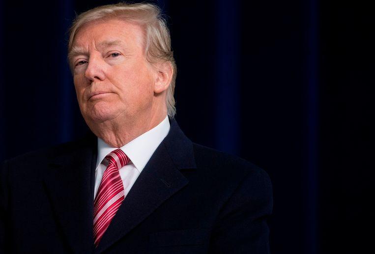 ► VS-president Donald Trump wordt zelfs binnen zijn eigen entourage versleten voor een 'imbeciel'. Beeld AFP