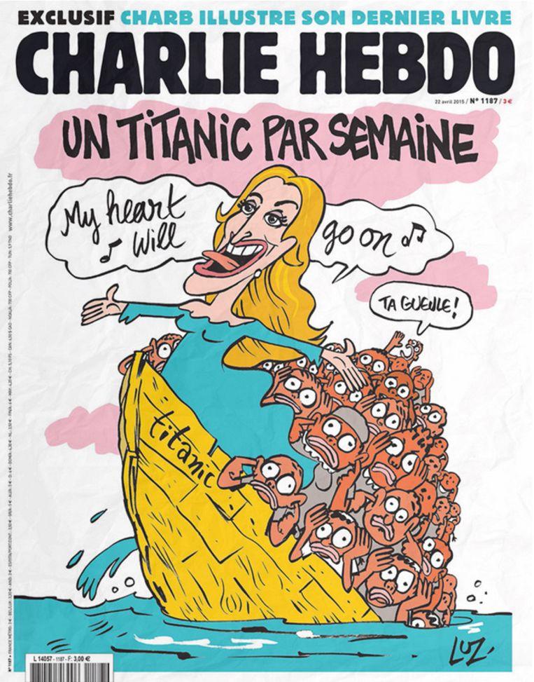 De cover van 22 april. Beeld Charlie Hebdo