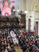 Uitvoering van de Matthäus Passion vann Bach door o.a. het Kempenkoor in Oirschot.