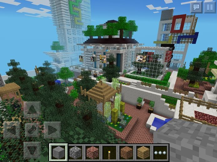 De gam Minecraft, een populair spel onder YouTubers