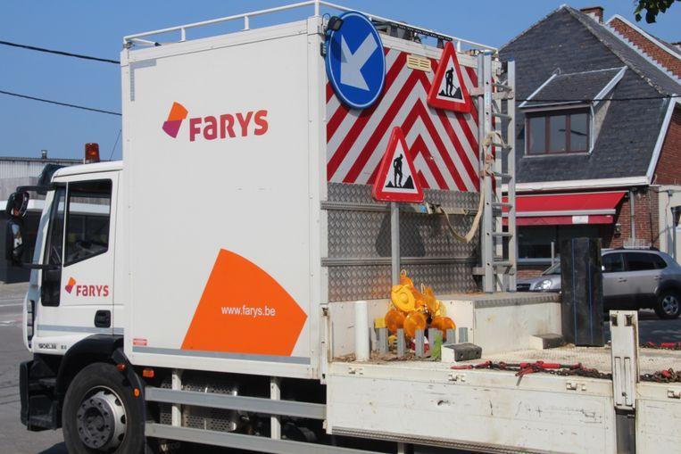 Werfwagen Farys.