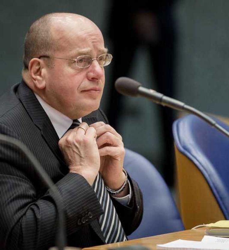 Staatssecretaris Teeven in de Tweede Kamer. Beeld anp