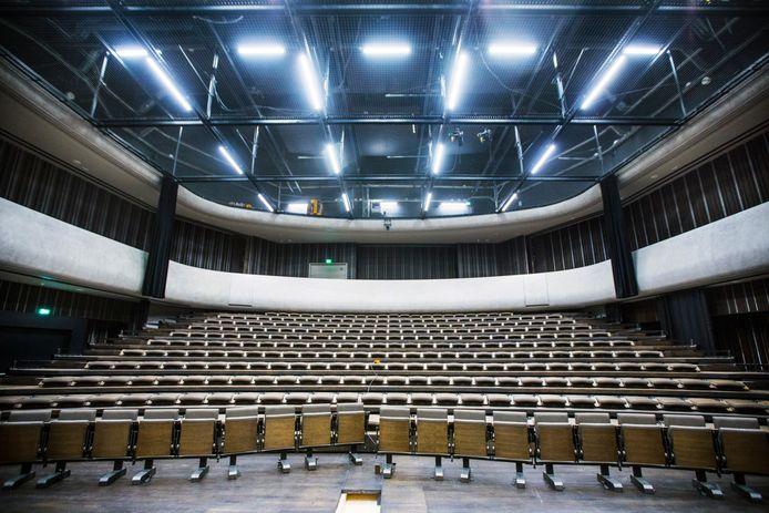 De theaterzaal is de plek waar het NDT zijn voorstellingen heeft en waar opera's, musicals en vrije producties worden geprogrammeerd.