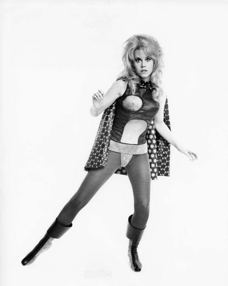 Jane Fonda in Barbarella.  Beeld Corbis via Getty Images