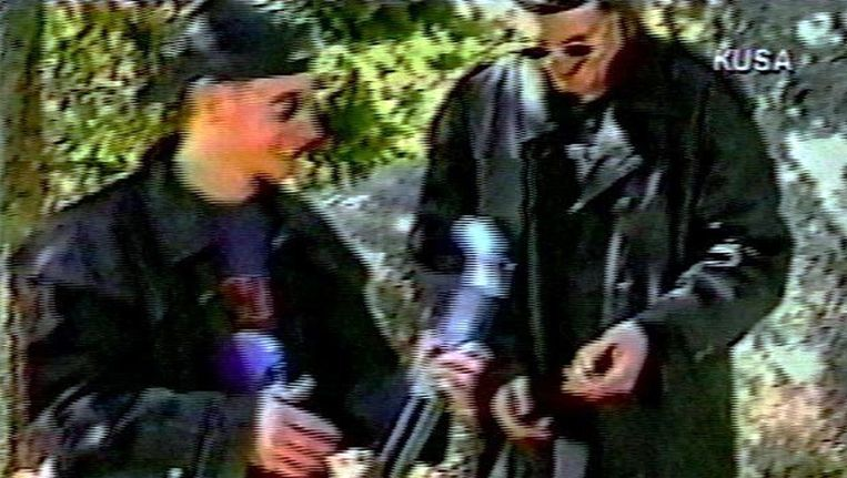 Eric Harris en Dylan Klebold, de daders van de schietpartij op Columbine High School, door wie de Portugese jongen geïnspireerd zou zijn Beeld ANP