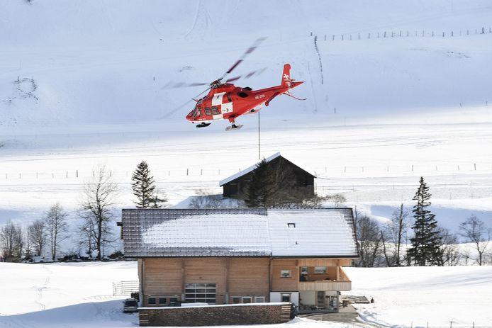 Ford werd in een helikopter overgebracht naar het ziekenhuis