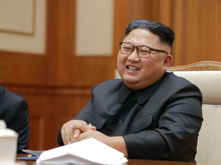 Noord-Koreaans leider Kim Jong-un. Beeld AFP