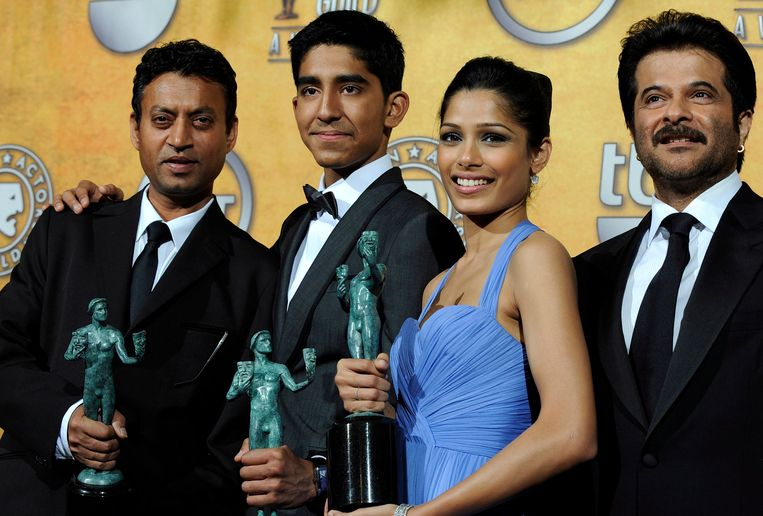 De cast van 'Slumdog Millionaire'. Beeld EPA