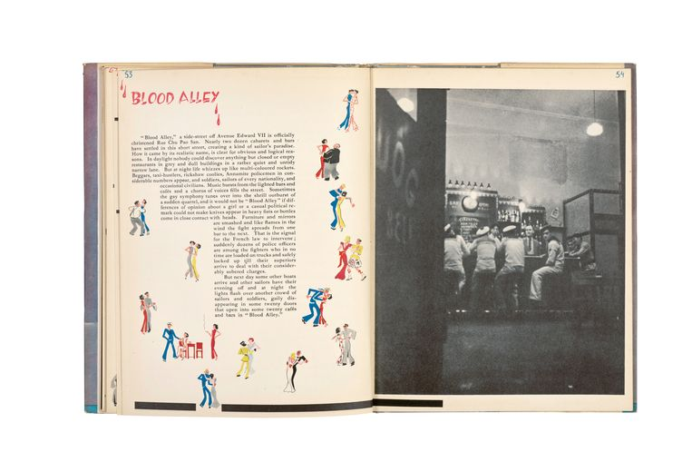 Twee pagina's uit het boek Shanghai (1941). Beeld Ellen Thorbecke / Friedrich Schiff / Nederlands Fotomuseum