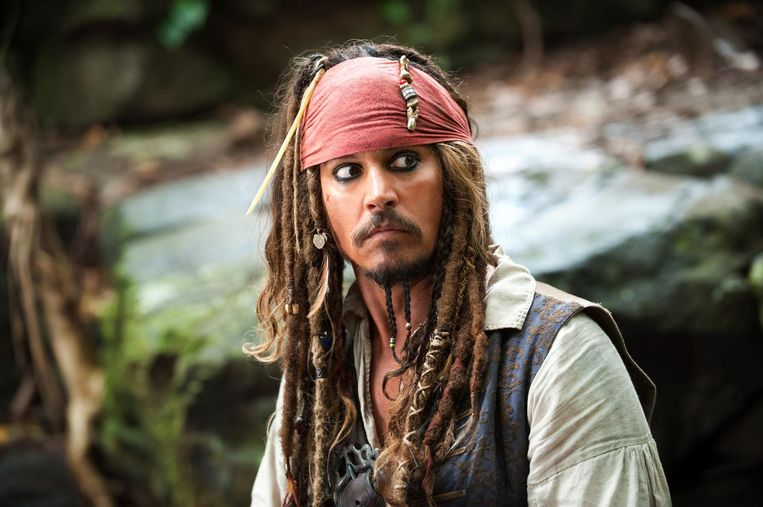 Johnny Depp als Captain Jack Sparrow.