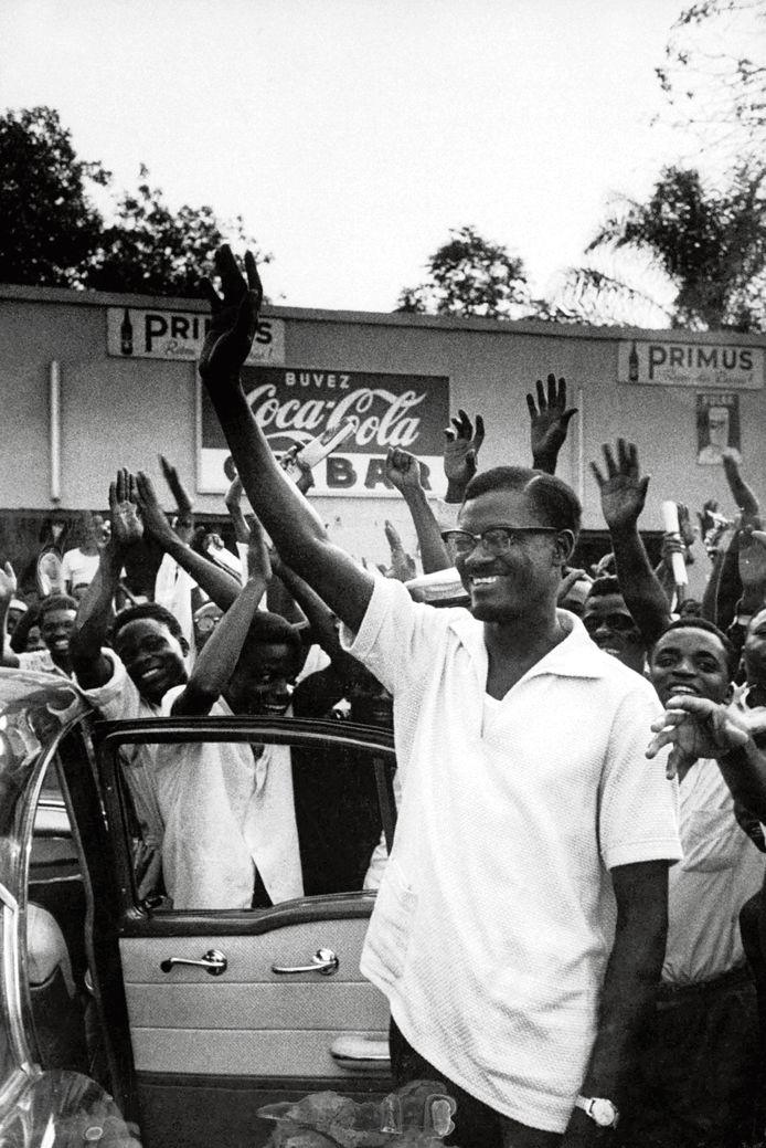 Patrice Lumumba  op archiefbeeld.