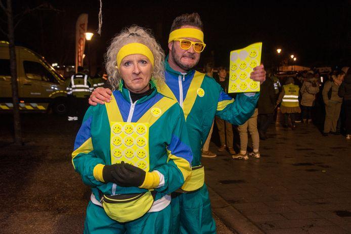 De Dienst Toerisme en Evenementen was een enthousiast deelnemer aan de City Night Run in Wetteren.