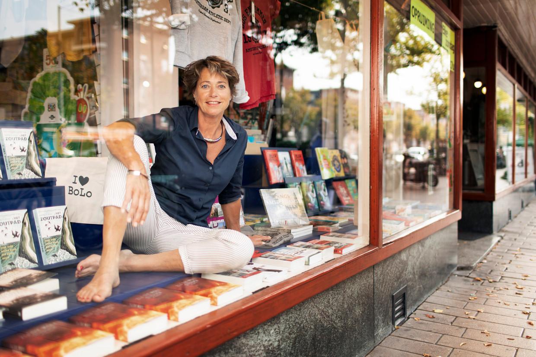 Monique Burger blijft hopen op een goede toekomst voor haar partner en voor De Nieuwe Boekhandel. Beeld Harmen De Jong