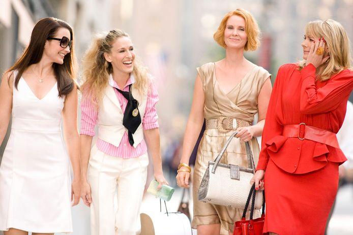 Kristin Davis, Sarah Jessica Parker, Cynthia Nixon en Kim Cattrall. Die laatste is niet te zien in de reboot.