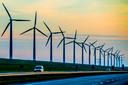 Van de grote energiebedrijven is Eneco de groenste. Het bedrijf investeert veel in windmolens.