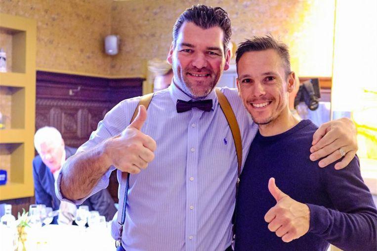 Tom Mestach met Philippe Gilbert na het etentje