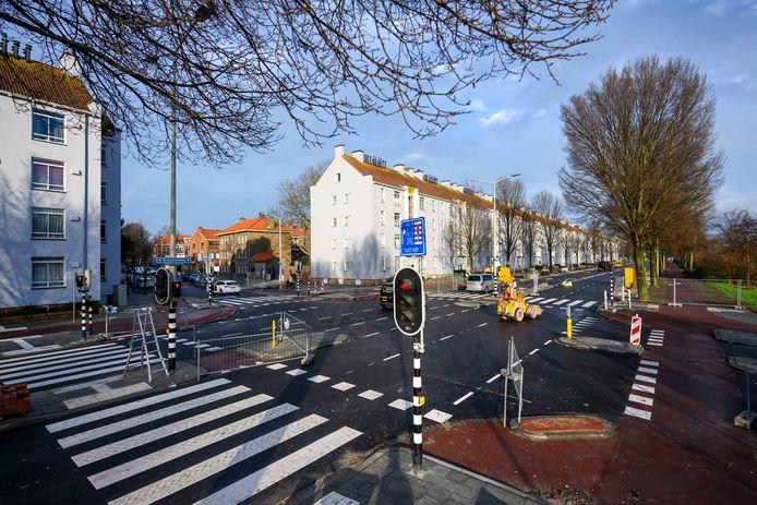 De werkzaamheden aan de Erasmusweg