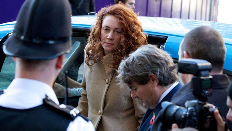 Rebekah Brooks arriveert bij de rechtbank in Londen. Beeld AFP