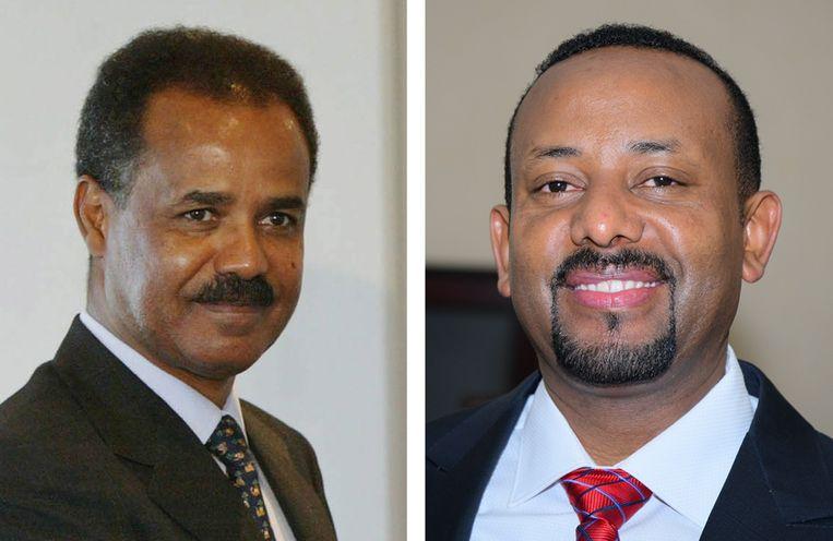 Abiy Ahmed en Isaias Afwerki