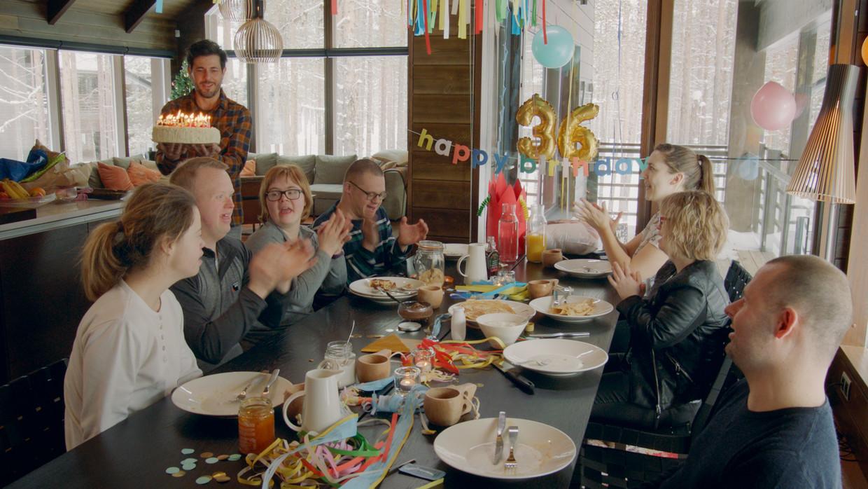 Kevin mocht zijn 36ste verjaardag vieren in Lapland. Beeld VRT