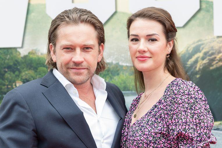 NLD/Amsterdam/20190812 - Nederlandse premiere Once Upon A Time In... Hollywood, bij pathe Arena.  Op de foto: Ferri Somogyi en partner Noëlle Somogyi Beeld Brunopress