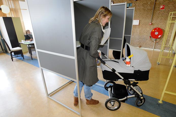 Stemdistrict 56 aan de Brederostraat in Breda.