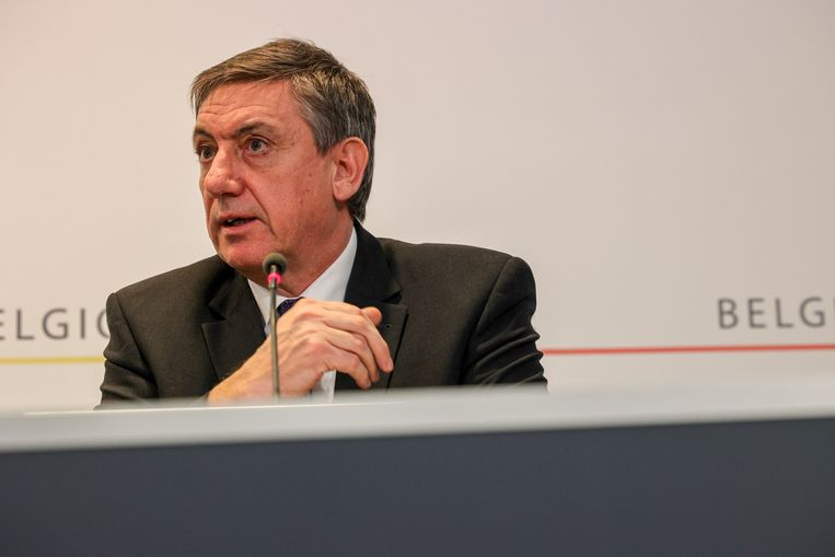 Vlaams minister-president Jan Jambon tijdens de persconferentie na het Overlegcomité vorige vrijdag. Beeld BELGA